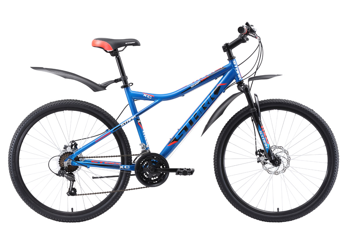 Велосипед Stark Slash 26.1 D 2018 бежевый-чёрный-красный 18 д