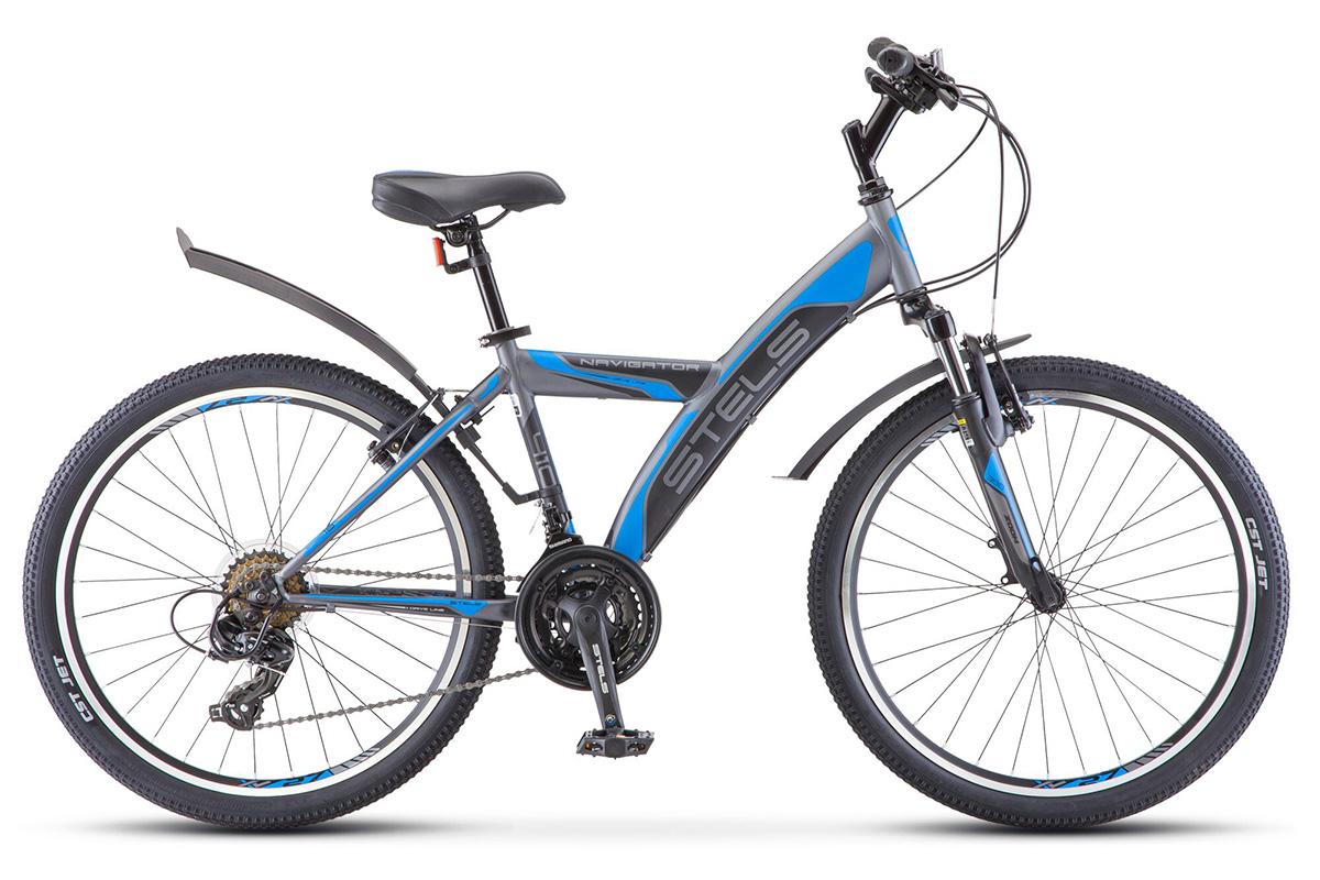 Велосипед Stels Navigator 410 V 24 (2018) серо-черно-синий 15