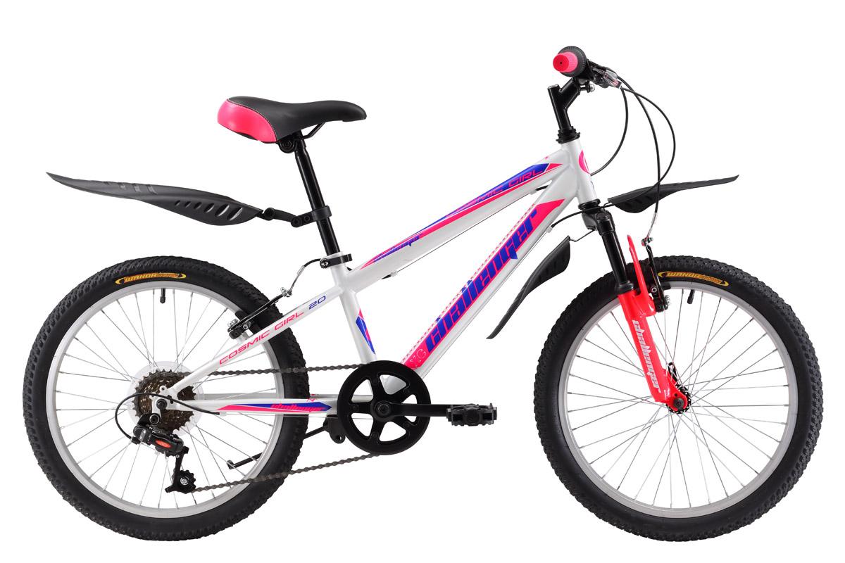 Велосипед Challenger Cosmic Girl 20 (2017) бело-синий one size
