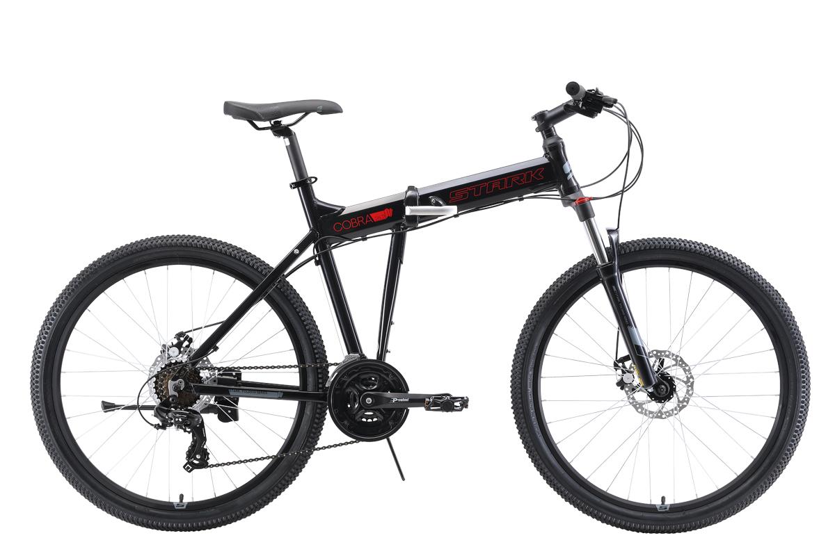 Велосипед Stark Cobra 26.2 D 2019 чёрный-красный-серый 18 д