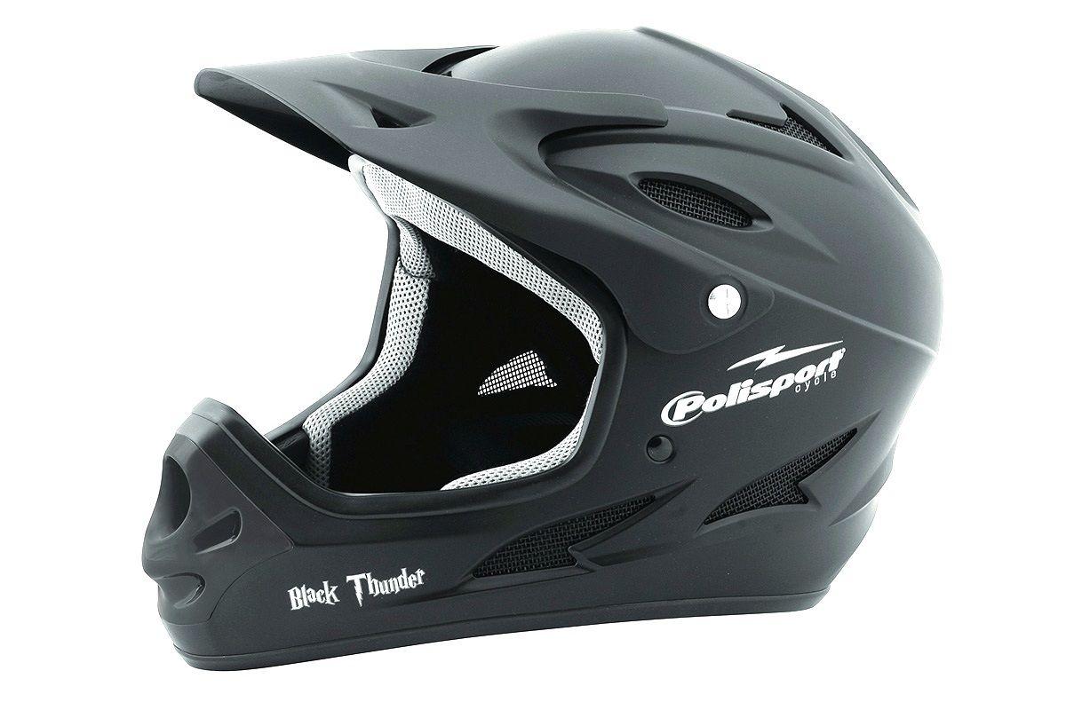 Шлем велосипедный Polisport DOWNHILL чёрный 60-62