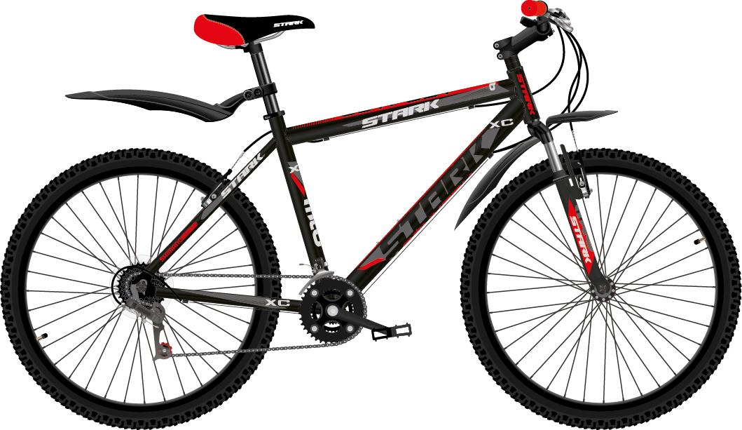 Велосипед Stark Outpost 26.1 V (2018) чёрный/красный/тёмно-серый 16КОЛЕСА 26 (СТАНДАРТ)<br>Stark Outpost 26.1 V - надёжный горный велосипед по доступной цене. Модель имеет лёгкую алюминиевую раму и мягкую амортизационную вилку, которая хорошо сглаживает и смягчает неровности дороги. Велосипед оснащён полуинтегрированной рулевой колонкой и ободными тормозами типа V-brake, которые удобны и просты в эксплуатации. Модель оборудована 21 скоростной трансмиссией и триггерными монетками. Велосипед Stark Outpost 26.1 V хорошо подходит для неспешных велопрогулок в городских парках.<br><br>бренд: STARK<br>год: 2018<br>рама: Алюминий (Alloy)<br>вилка: Амортизационная (пружина)<br>блокировка амортизатора: Нет<br>диаметр колес: 26<br>тормоза: Ободные (V-brake)<br>уровень оборудования: Начальный<br>количество скоростей: 21<br>Цвет: чёрный/красный/тёмно-серый<br>Размер: 16