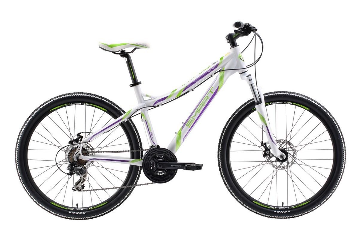 Велосипед Smart Lady 80 2018 бело-зелено-фиолетовый 16 д