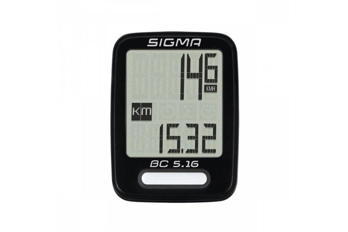 Велокомпьютер Sigma BC 5.16 чёрный one size SIGMA