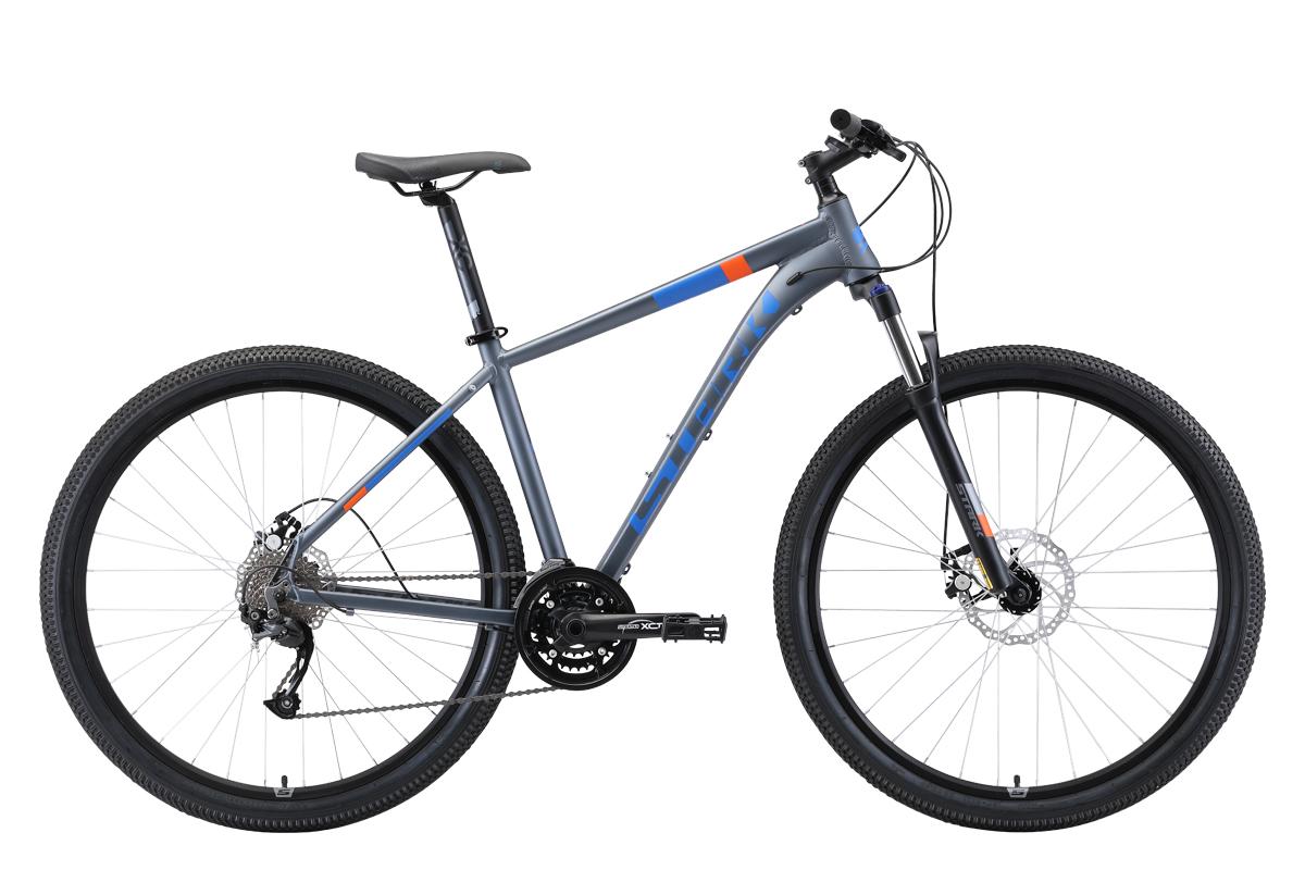 Велосипед Stark Router 29.4 D 2019 серый-голубой-оранжевый 20 д