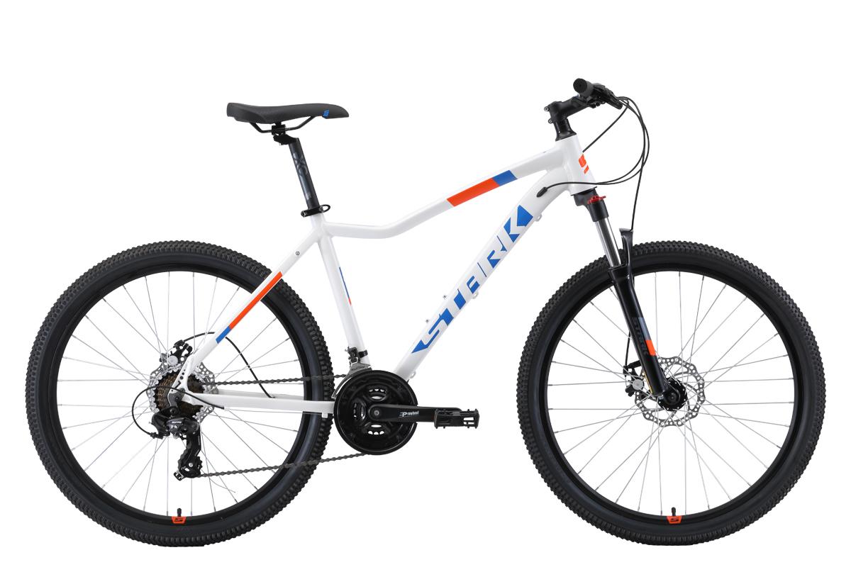 Велосипед Stark Viva 26.2 D 2019 белый-голубой-оранжевый 16 д