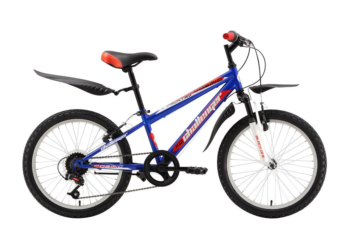 Велосипед Challenger Cosmic 20 (2016) сине-красный 13ОТ 6 ДО 9 ЛЕТ (20 ДЮЙМОВ)<br>Велосипед Challenger Cosmic для детей от 6 до 8 лет и ростом 115-127 см собран на стальной раме и оборудован передней амортизационной вилкой. Challenger Cosmic имеет два варианта дизайна, оптимальных для мальчиков. Велосипед оборудован 6 передачами, благодаря которым ребёнок выбирает удобный скоростной режим и оптимальную нагрузку. Ободные тормоза надёжно работают и просты в обслуживании. Велосипед для мальчиков Challenger Cosmic укомплектован удобными крыльями и подножкой.<br><br>бренд: CHALLENGER<br>год: 2016<br>рама: Сталь (Hi-Ten)<br>вилка: Амортизационная (пружина)<br>блокировка амортизатора: None<br>диаметр колес: 20<br>тормоза: Ободные (V-brake)<br>уровень оборудования: Начальный<br>количество скоростей: 6<br>Цвет: сине-красный<br>Размер: 13