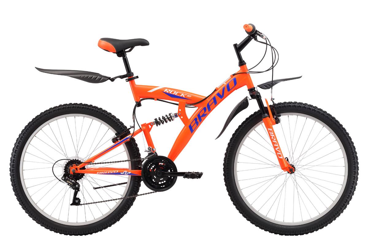 Велосипед Bravo Rock 26 (2017) черно-зеленый 20КОЛЕСА 26 (СТАНДАРТ)<br>Велосипед двухподвес Bravo Rock 26 выполнен на стальной раме, и отлично подходит для езды по различным типам дорог. Трансмиссия велосипеда имеет 18 скоростей, что позволяет подобрать оптимальную нагрузку. Велосипед оснащён ободными тормозами, надёжными и простыми в эксплуатации. Переднее колесо крепится к вилке эксцентриком, что позволяет быстро снять его, при погрузке велосипеда в автомобиль. В комплекте с велосипедом Bravo Rock 26 идут крылья и подножка.<br><br>бренд: BRAVO<br>год: 2017<br>рама: Сталь (Hi-Ten)<br>вилка: Амортизационная (пружина)<br>блокировка амортизатора: Нет<br>диаметр колес: 26<br>тормоза: Ободные (V-brake)<br>уровень оборудования: Начальный<br>количество скоростей: 18<br>Цвет: черно-зеленый<br>Размер: 20