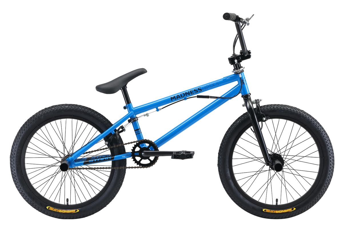 Велосипед Stark Madness BMX 3 2019 голубой-чёрный one size