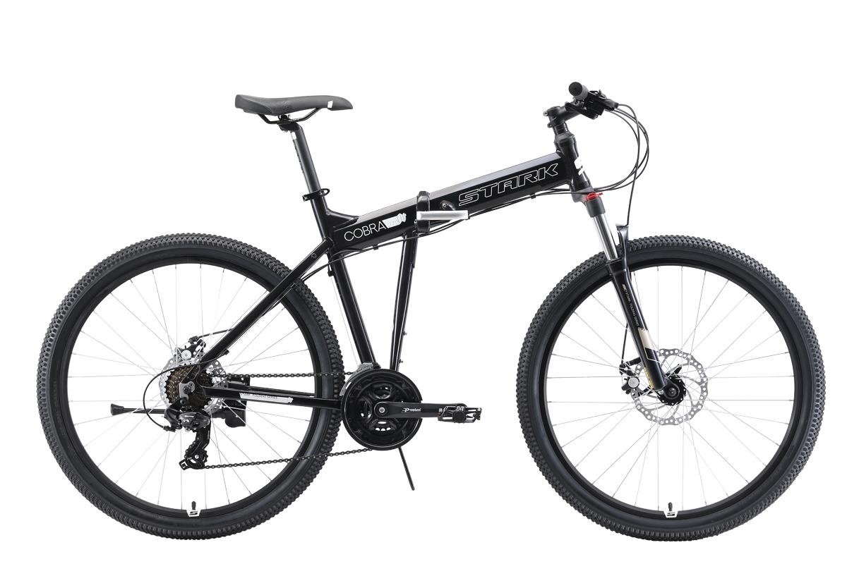 Велосипед Stark Cobra 27.2 D 2019 чёрный-белый 18 д