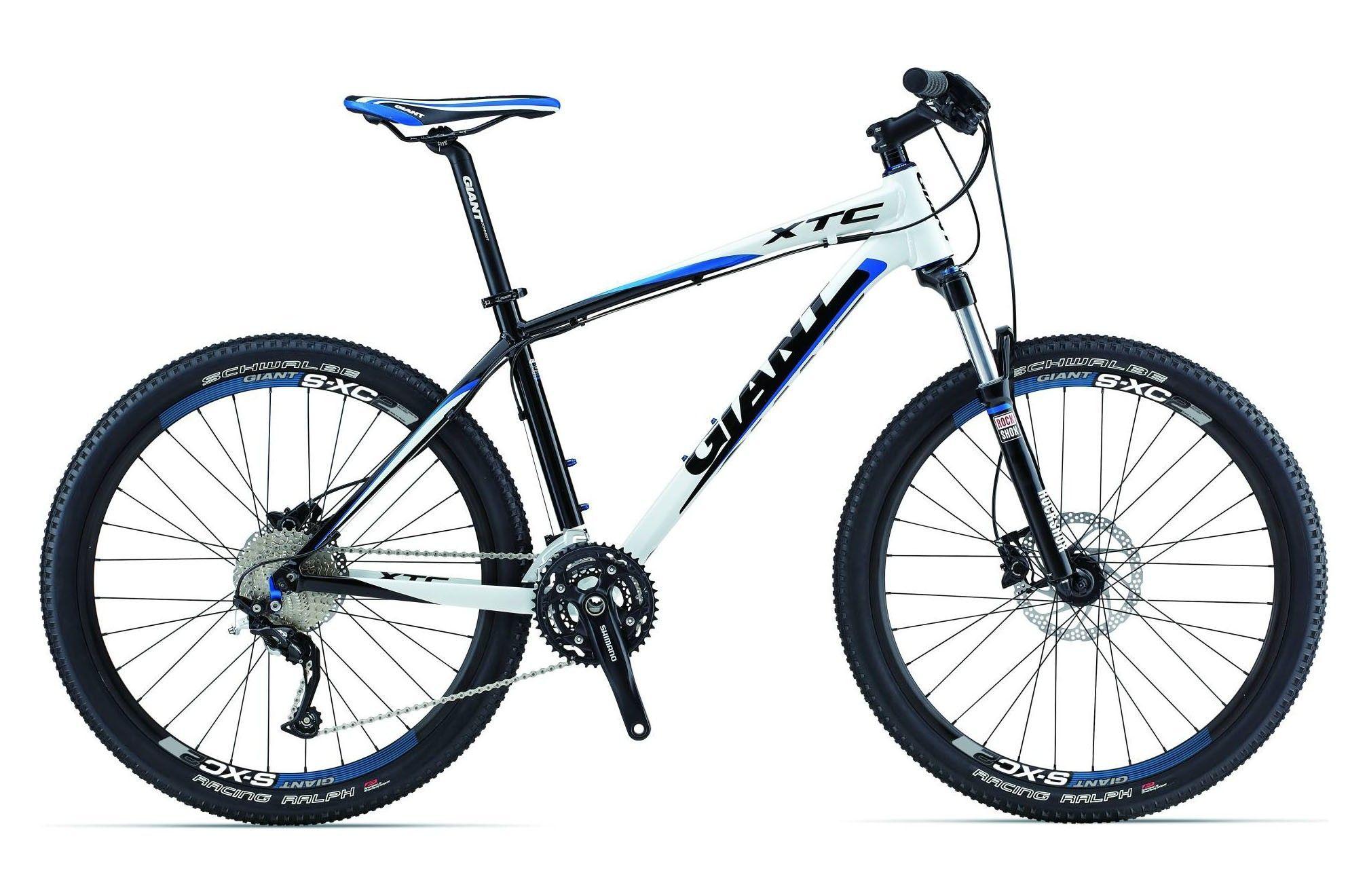 Велосипед Giant XTC 2 2013 бело-черно-синий L