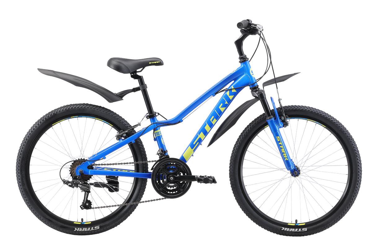 Велосипед Stark Rocket 24.1 V 2019 голубой-зелёный one size