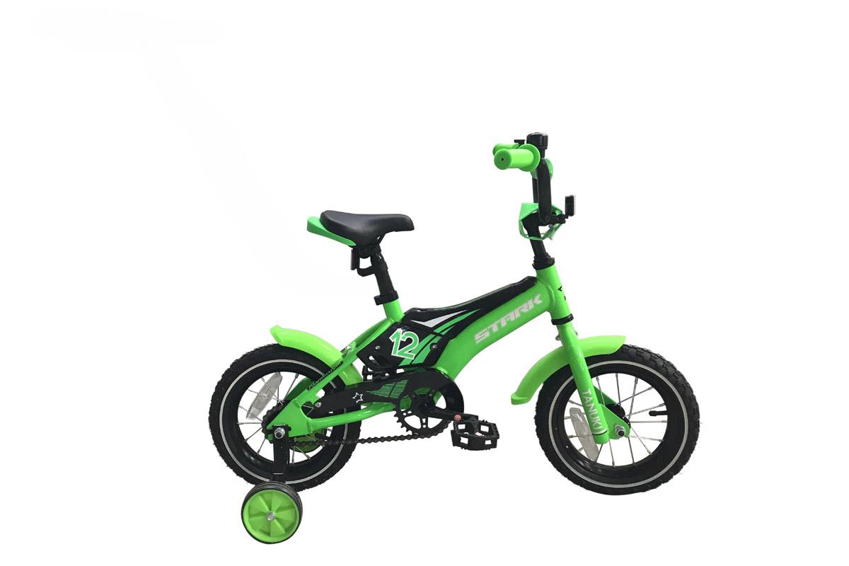 Велосипед Stark Tanuki 12 Boy 2018 зелёный-чёрный-белый one size