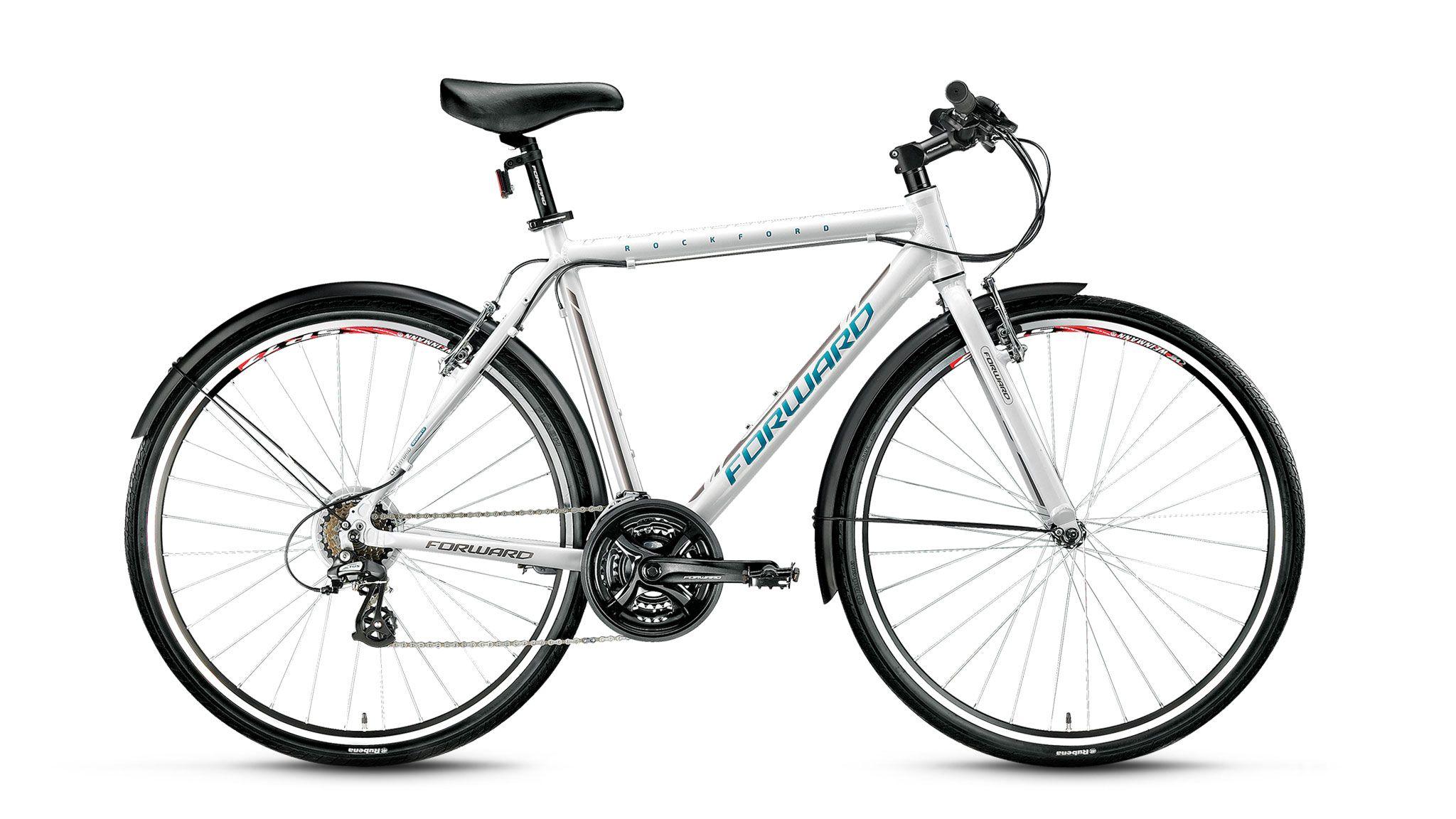 Велосипед Forward Rockford 1.0 (2017) белый 500 mmТУРИСТИЧЕСКИЕ<br><br><br>бренд: FORWARD<br>год: 2017<br>рама: Алюминий (Alloy)<br>вилка: Жесткая (алюминий)<br>блокировка амортизатора: Нет<br>диаметр колес: 700C<br>тормоза: Ободные (V-brake)<br>уровень оборудования: Начальный<br>количество скоростей: 21<br>Цвет: белый<br>Размер: 500 mm