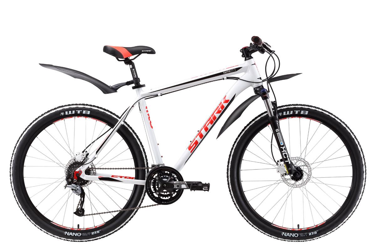Велосипед Stark Tactic 27.5 HD 2017 бело-красный 16 д