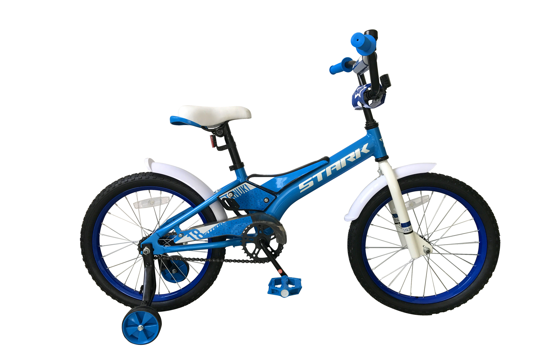 Велосипед Stark Tanuki 18 Boy 2019 голубой-белый one size