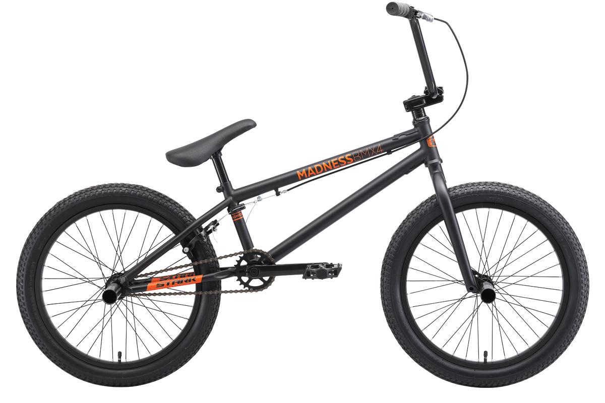 Велосипед Stark Madness BMX 4 2019 чёрный-оранжевый one size