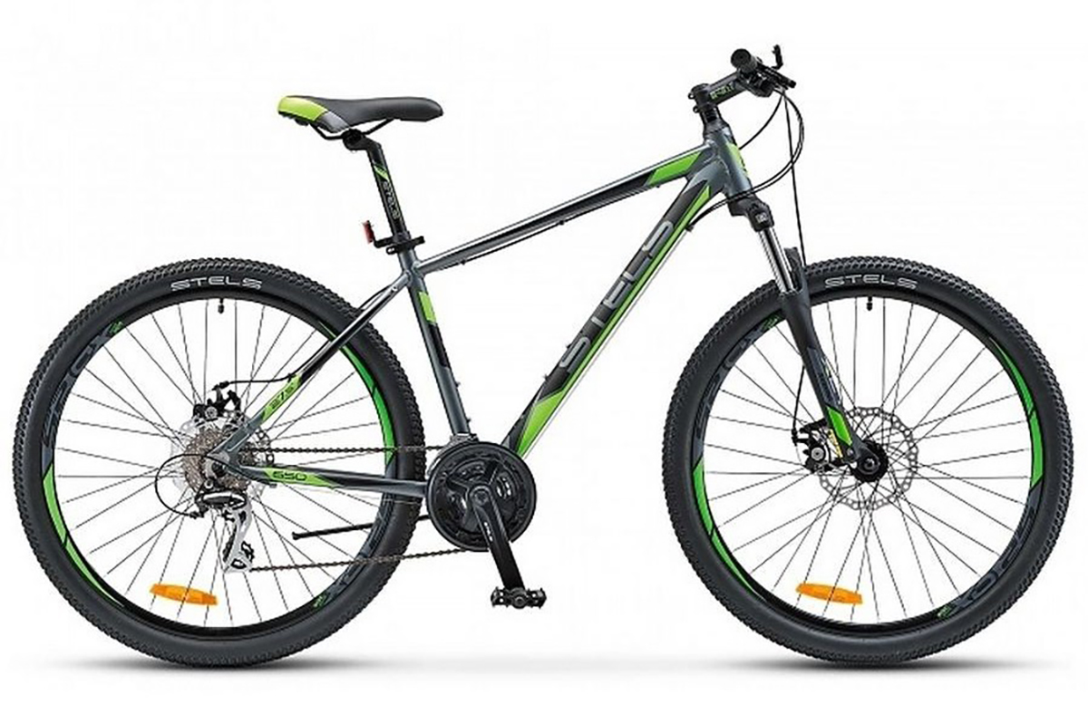 STELS Велосипед Stels Navigator 650 MD 27.5 (2017) серо-зеленый 17.5 велосипед stels navigator 310 2016