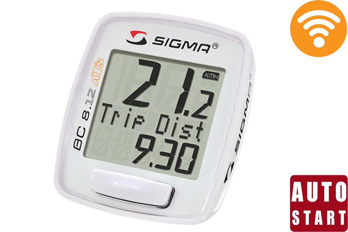Велокомпьютер Sigma BC 8.12 ATS белыйВЕЛОКОМПЬЮТЕРЫ<br>Беспроводной велокомпьютер Sigma BC 8.12 ATS, кроме основных характеристик поездки – время, скорость, пройденный путь, фиксирует максимальную скорость поездки и рассчитывает среднюю скорость. Влагозащищен.  Описание функций: - Отображает текущее время (часы). - Автоматический старт\стоп. – Скрытие функций во время движения - общие значения будут скрыты во время движения (как только начнет отображаться значение скорости). Это позволяет пропускать неиспользуемые функции. – Интерфейс для подключения к ПК - велокомпьютер имеет возможность подключения к ПК. После приобретения программного обеспечения SIGMA DATA CENTER и стыковочного модуля общие и текущие данные могут быть без труда перенесены на ПК. Кроме того, при помощи ПК можно производить настройку велокомпьютера. – Интервал обслуживания - владелец велосипеда может указать километраж, при достижении которого появится напоминание о техосмотре велосипеда (на дисплее появляется сообщение «Inspektion»).  На этой странице, вы можете скачать полную инструкцию для велокомпьютеров Sigma BC 8.12 ATS<br><br>бренд: SIGMA<br>год: Всесезонный<br>рама: None<br>вилка: None<br>блокировка амортизатора: None<br>диаметр колес: None<br>тормоза: None<br>уровень оборудования: None<br>количество скоростей: None<br>Цвет: белый<br>Размер: None