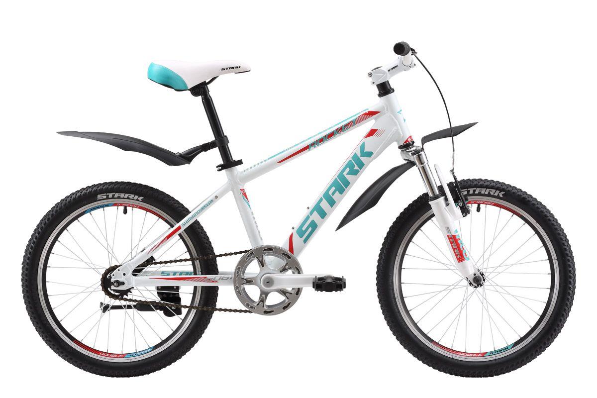 Велосипед Stark Rocket 20 (2016) бело-зеленый one size