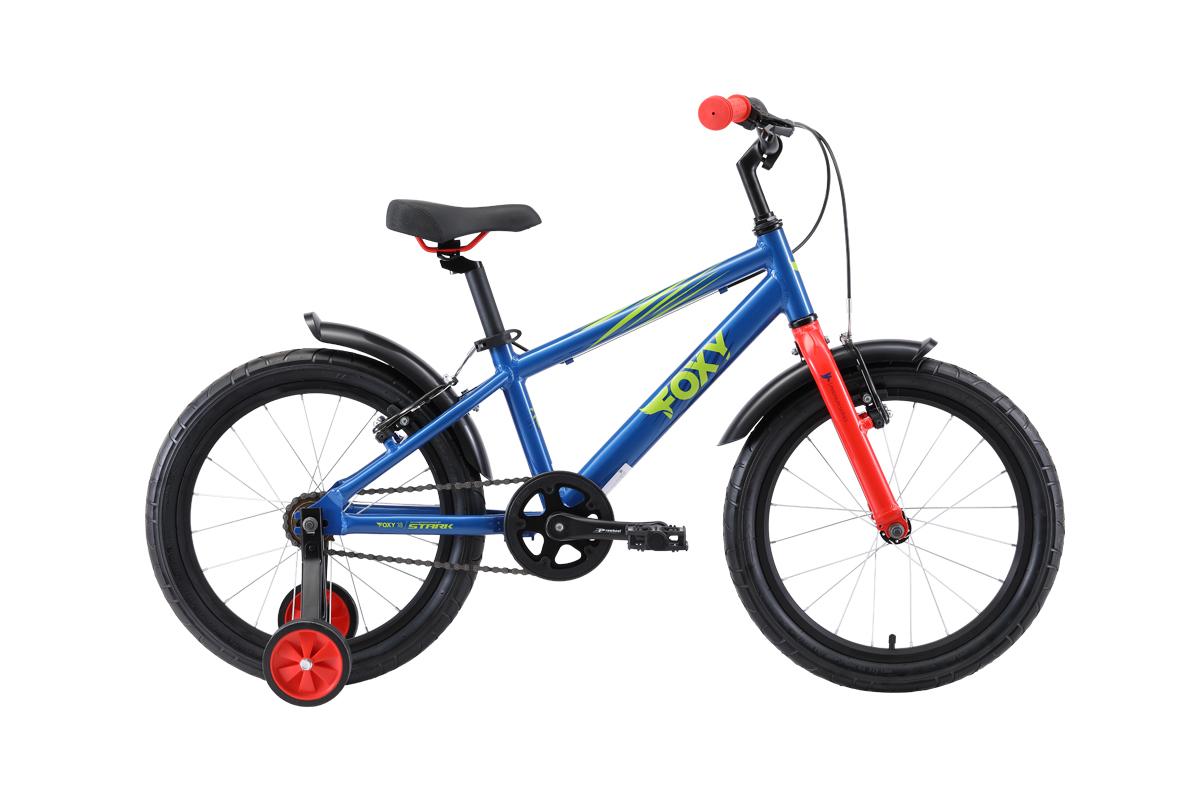 Велосипед Stark Foxy 18 2019 синий-зелёный-красный one size