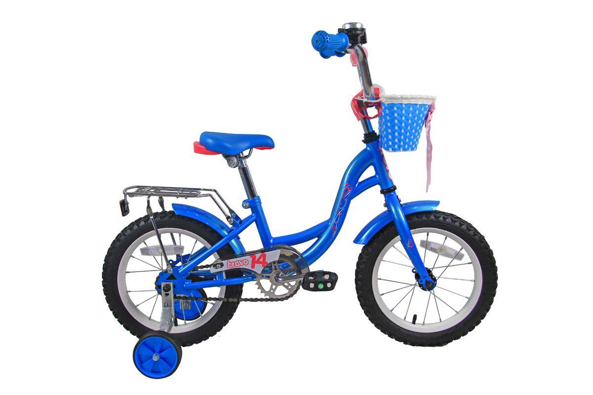 Велосипед Bravo 14 Girl 2018 голубой-розовый-белый one size