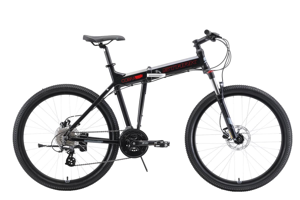 Велосипед Stark Cobra 26.3 HD 2019 чёрный-красный-серый 20 д