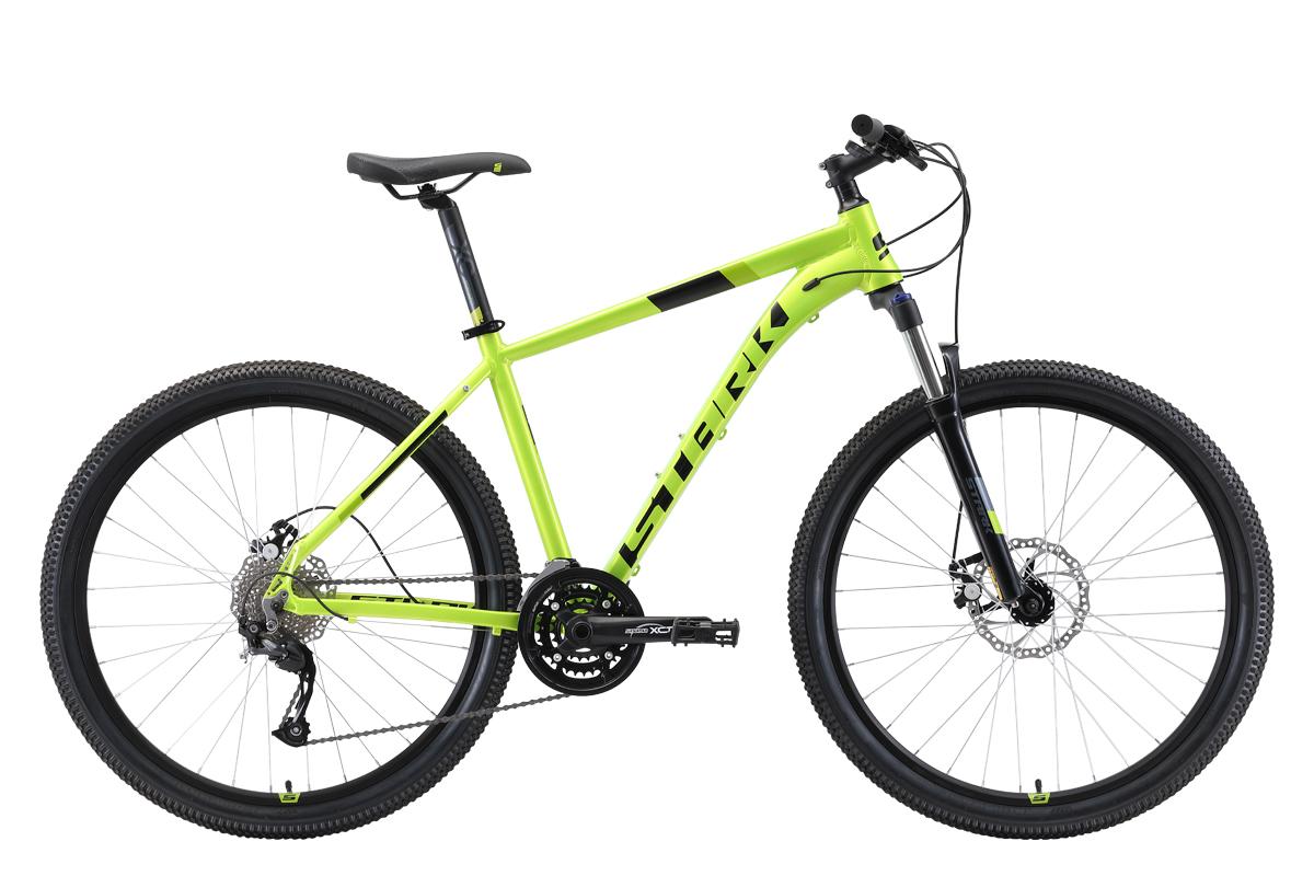 Велосипед Stark Router 27.4 D 2019 зелёный-чёрный 20 д
