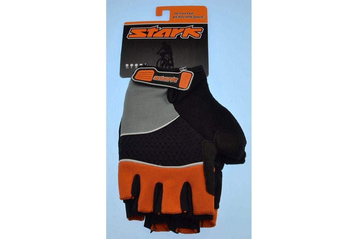 Велоперчатки Stark NC-814 черно-оранжевые -ПЕРЧАТКИ<br>Перчатки с открытыми пальцами Stark NC-814, мягкие подушечки на внутренней стороне и прокладки с гелем и силиконом для большего комфорта, дополнительные швы придают большую прочность<br><br>бренд: STARK<br>год: Всесезонный<br>рама: None<br>вилка: None<br>блокировка амортизатора: None<br>диаметр колес: None<br>тормоза: None<br>уровень оборудования: None<br>количество скоростей: None<br>Цвет: -<br>Размер: None