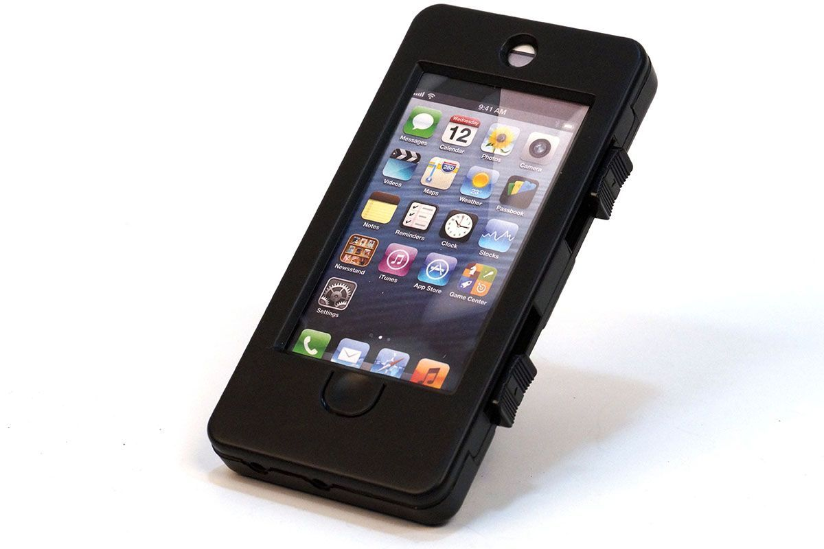 Водозащитный держатель-кейс с креплением на руль для iPhone 5 Vinca Sport чёрный