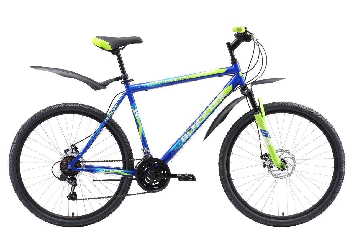 Велосипед Black One Onix 26 D 2018 синий-зелёный-голубой 18 д