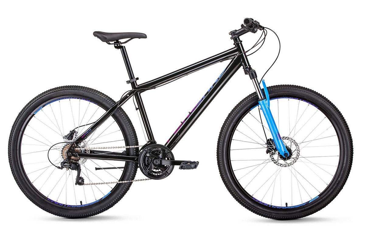 Велосипед Forward Sporting 27.5 3.0 disc 2019 черно-синий 19 д