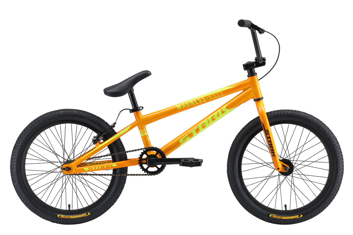 Велосипед Stark Madness BMX Race 2019 оранжевый-жёлтый one size