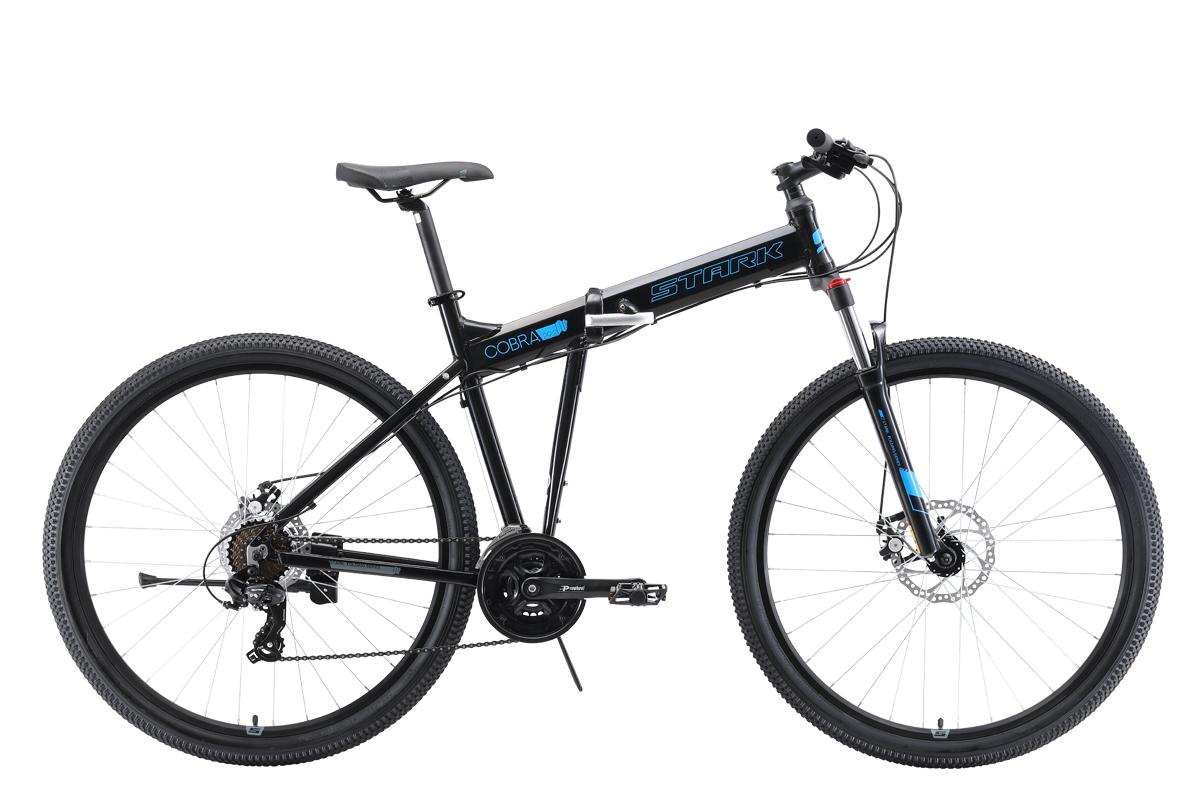 Велосипед Stark Cobra 29.2 D 2019 чёрный-голубой 20 д