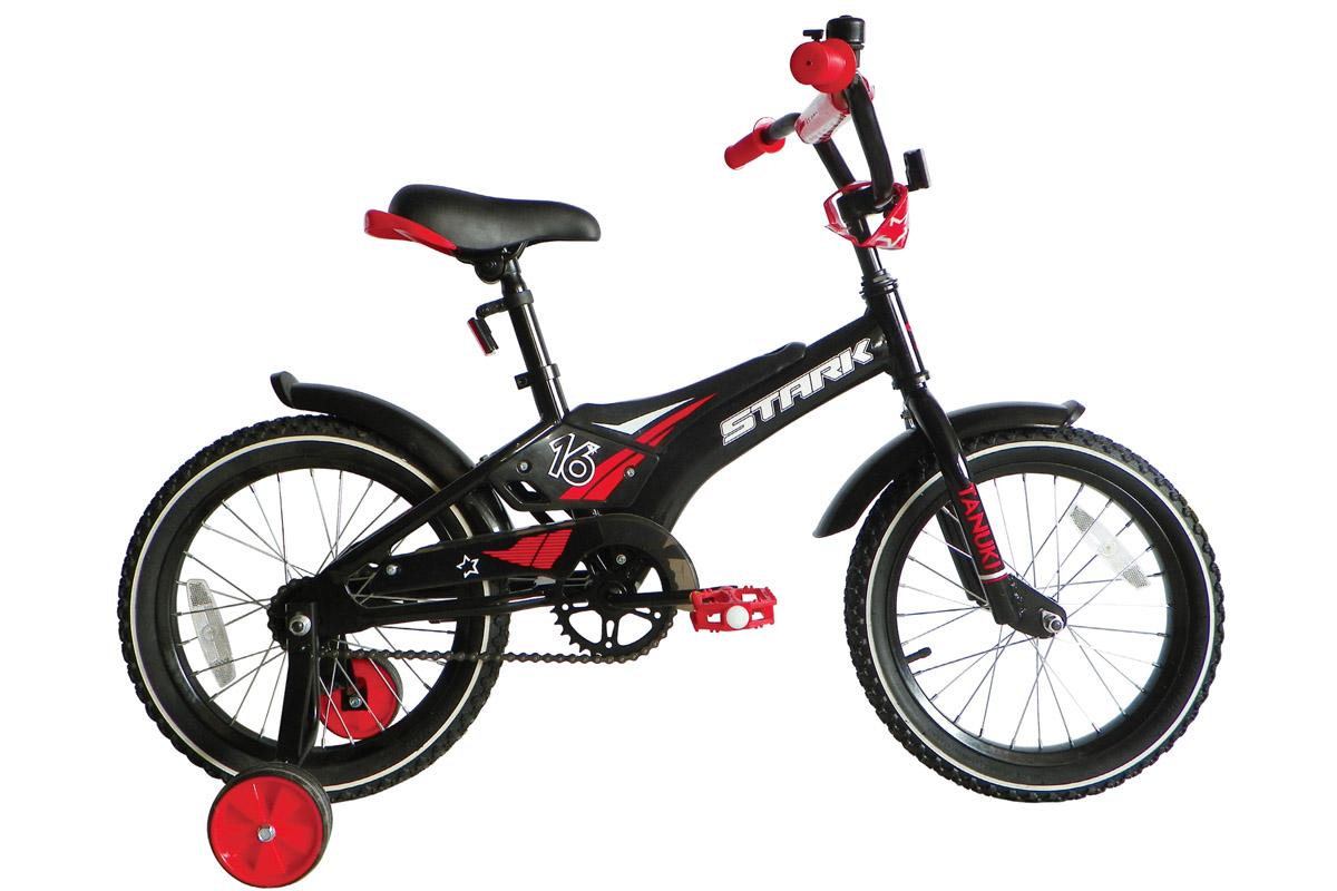 STARK Велосипед Stark Tanuki 16 Boy ST (2017) черно-красный one size велосипед stark tanuki 12 boy 2015
