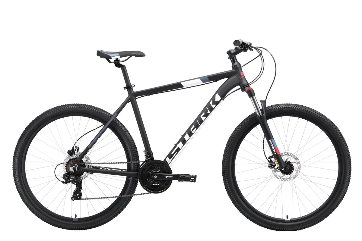 Велосипед Stark Hunter 27.2 HD 2019 чёрный-белый-серый-красный 20 д