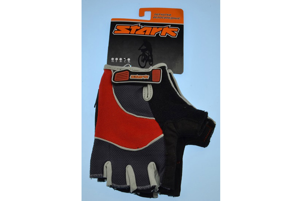 Велоперчатки Stark NC-613 красно-серые - L STARK