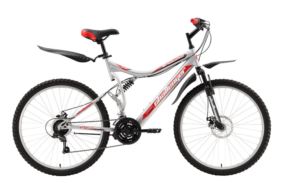 Велосипед Challenger Enduro Lux (2016) черно-зеленый 19КОЛЕСА 26 (СТАНДАРТ)<br>Горный велосипед-двухподвес Challenger Enduro Lux, собран на стальной раме. Колёса, на усиленных ободах, диаметром 26 дюймов, устойчивы к восьмёркам и эллипсу. Механический дисковый тормоз эффективно работает в тяжёлых дорожных условиях. 18-ти скоростная трансмиссия управляется переключателями Shimano Revo Shift (кольцо вращается вокруг руля). Двухподвес Challenger Enduro Lux отлично подходит для прогулок выходного дня. Задняя подвеска отрабатывает неровности дороги и делает поездки более комфортными. Велосипед оборудован быстросъёмными крыльями и подножкой.<br><br>бренд: CHALLENGER<br>год: 2016<br>рама: Сталь (Hi-Ten)<br>вилка: Амортизационная (пружина)<br>блокировка амортизатора: Нет<br>диаметр колес: 26<br>тормоза: Дисковые механические<br>уровень оборудования: Начальный<br>количество скоростей: 18<br>Цвет: черно-зеленый<br>Размер: 19