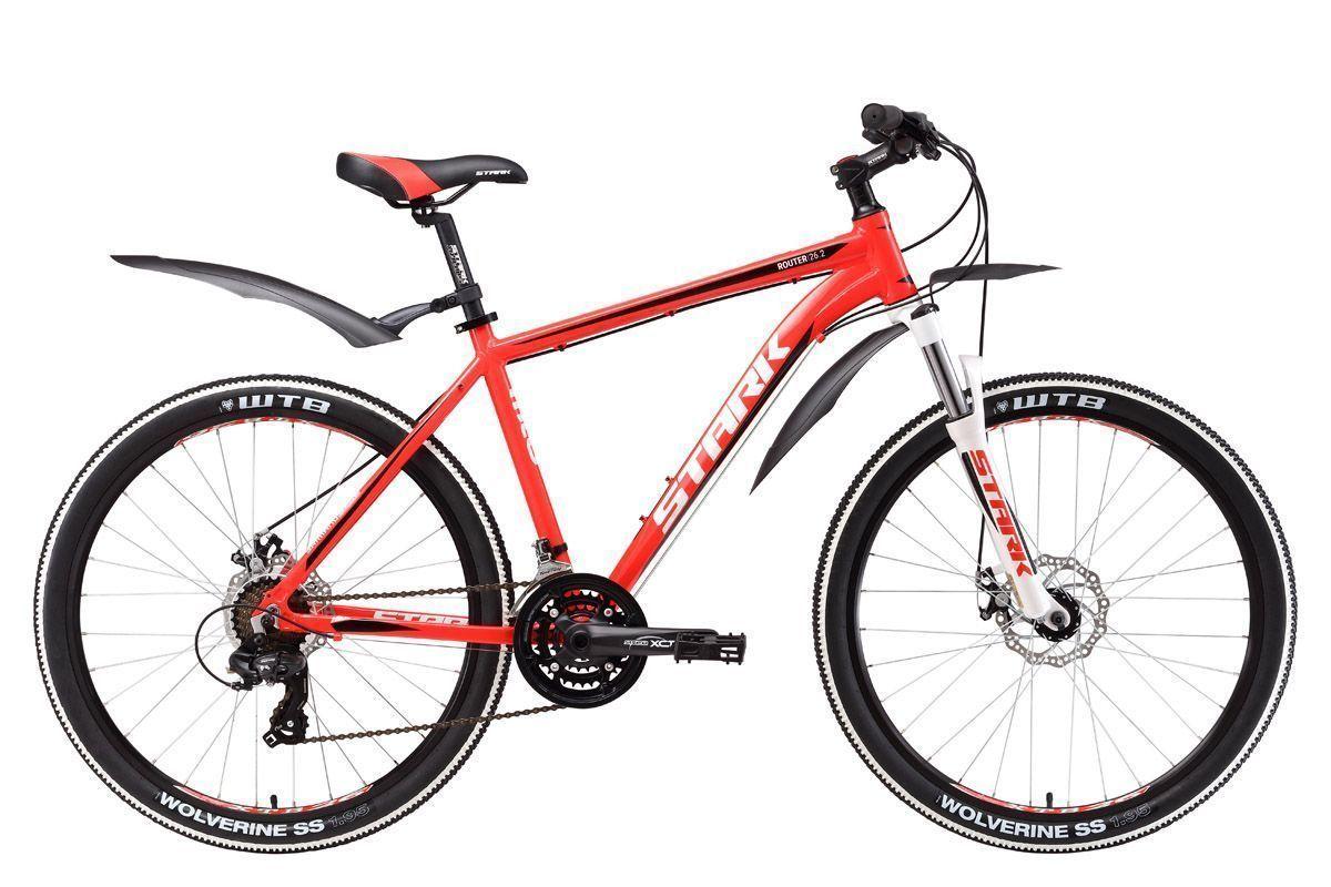 Велосипед Stark Router 26.2 D 2017 красно-белый 18 д