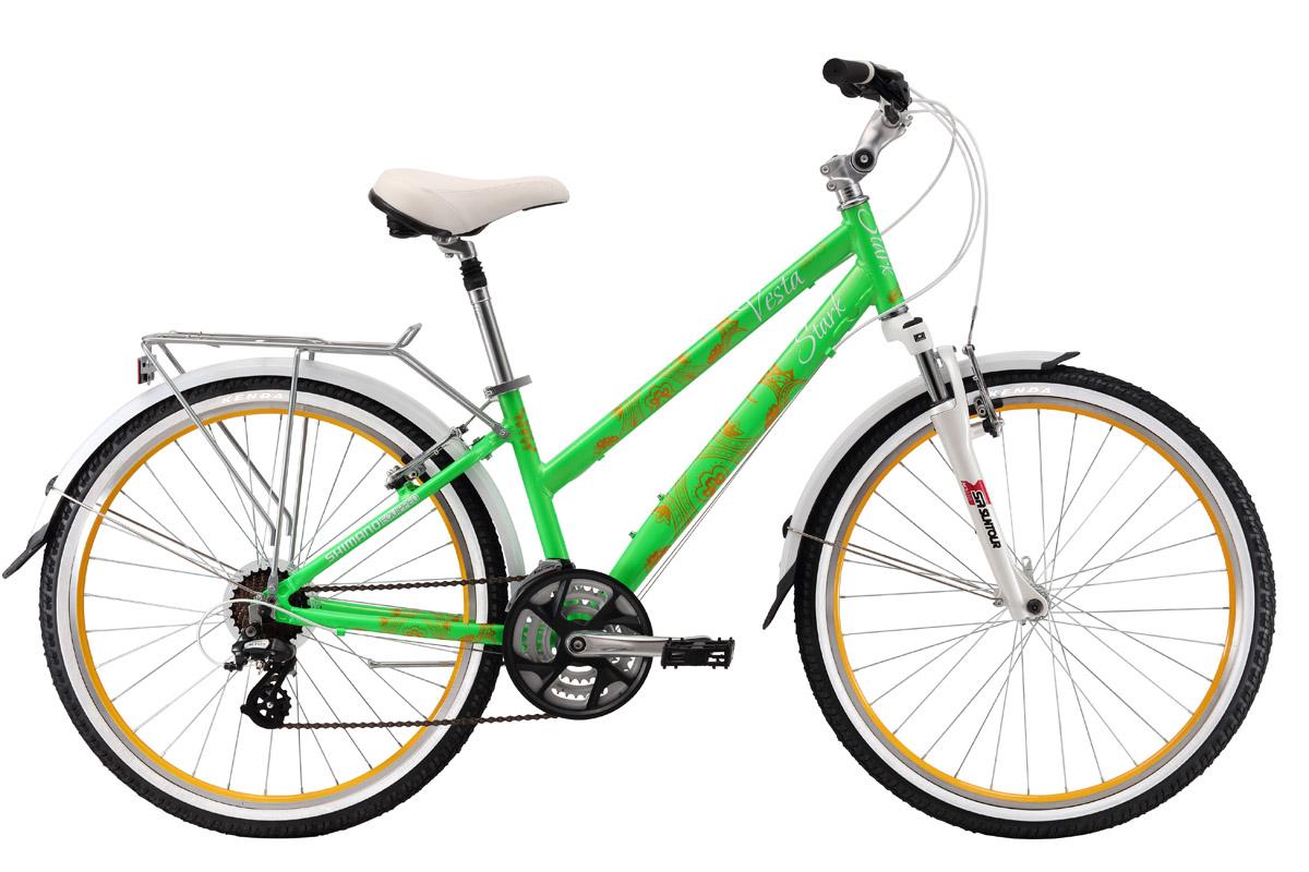 Велосипед Stark Vesta 26.3 V (2017) зелено-желтый 14.5