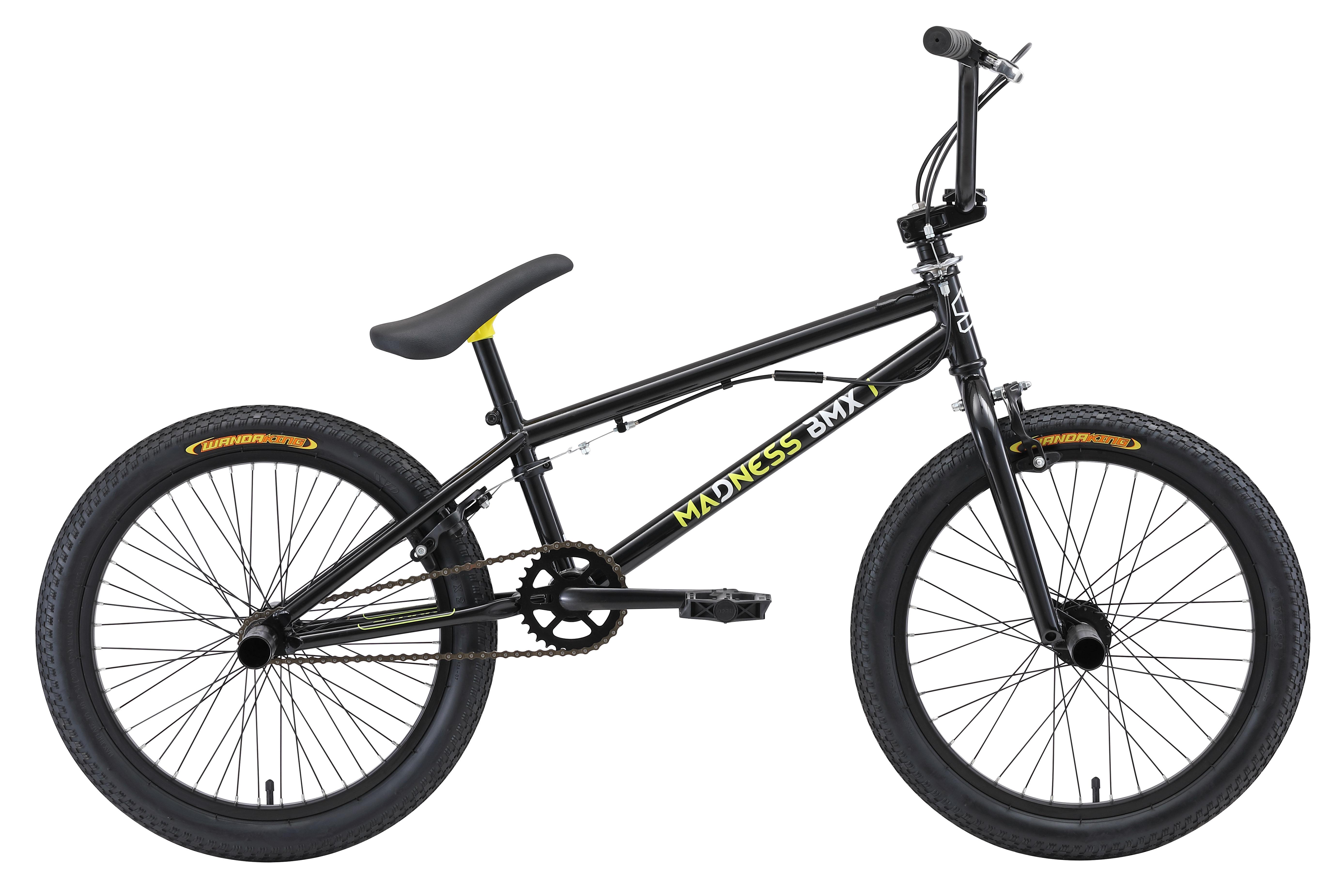 Велосипед Stark Madness BMX 1 (2018) зелёный/жёлтый/чёрный one sizeBMX<br><br><br>бренд: STARK<br>год: 2018<br>рама: Сталь (Hi-Ten)<br>вилка: Жесткая (сталь)<br>блокировка амортизатора: Нет<br>диаметр колес: 20<br>тормоза: Клещевые (U-brake)<br>уровень оборудования: Начальный<br>количество скоростей: 1<br>Цвет: зелёный/жёлтый/чёрный<br>Размер: one size