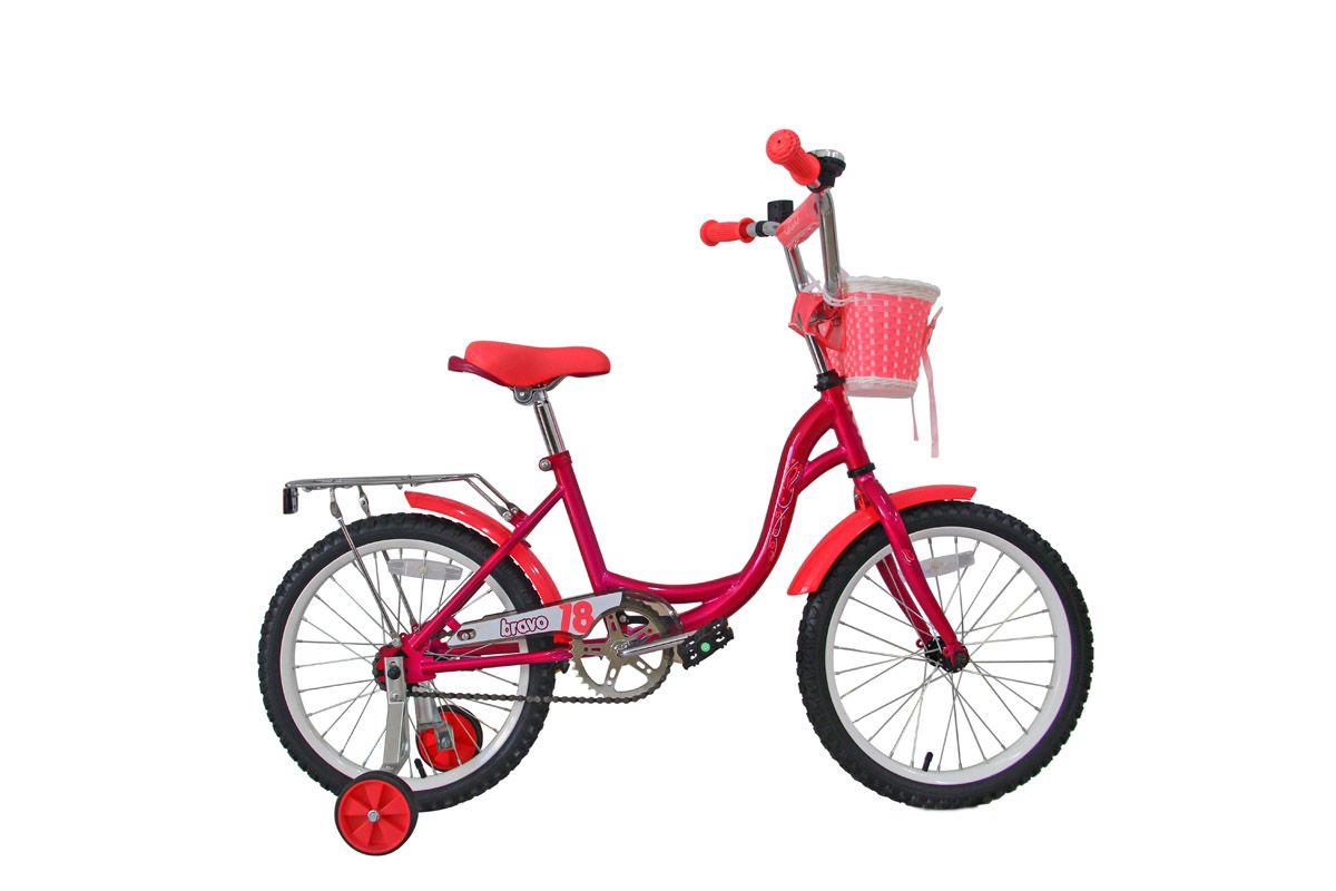 Велосипед Bravo 18 Girl (2018) фиолетовый/розовый/белый one size