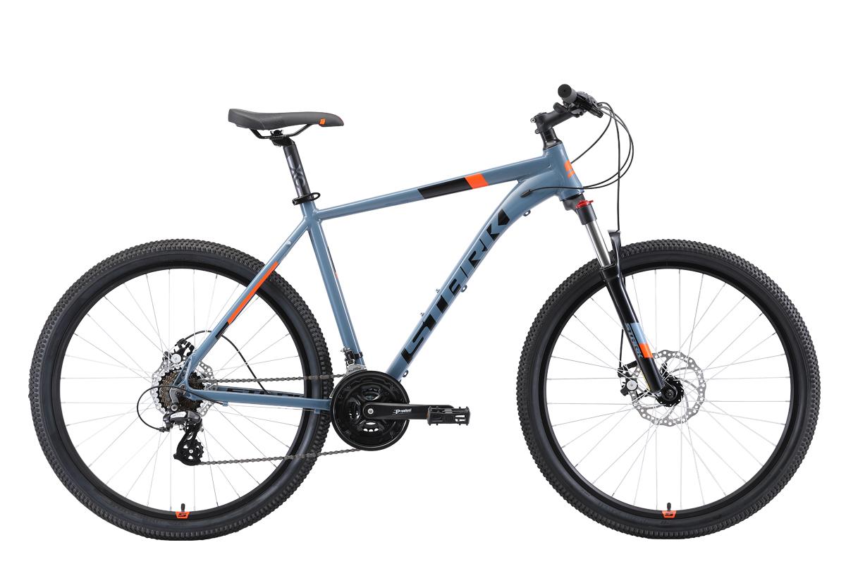 Велосипед Stark Router 27.3 D 2019 серый-чёрный-оранжевый 22 д