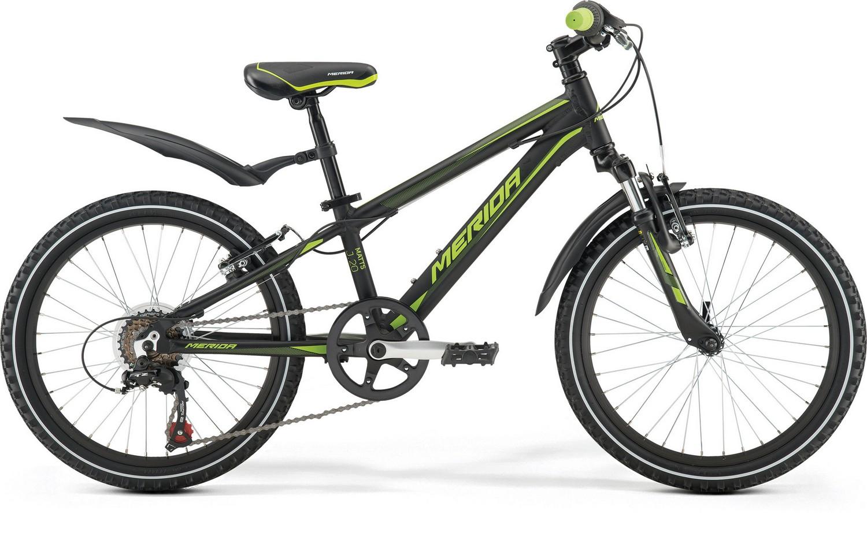 Велосипед Merida Matts J20 Boy 2017 черно-зеленый one size