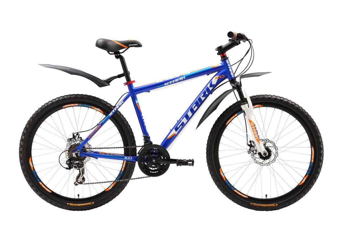 Велосипед Stark Indy Disc (2016) черно-синий 18КОЛЕСА 26 (СТАНДАРТ)<br>Какой выбрать велосипед? С дисковым тормозом или с ободными тормозами? Горный велосипед Stark Indy Disc можно купить, в нашем интернет-магазине в обоих вариантах исполнения. Кроме того мы предлагаем вам на выбор механический (модель Indy Disc) или гидравлический дисковый тормоз (модель Stark Indy HD). Выбрав велосипед Stark Indy Disc, вы получите в базовой комплектации эффективный механический дисковый тормоз. В остальном, выбор этого велосипеда предоставит вам возможность использовать все преимущества линейки Indy, к которым относятся: оборудование Shimano, крепкая и лёгкая алюминиевая рама и диапазон передач, который идеально подходит для прогулочного катания на велосипеде. Выбор за вами. Stark Indy Disc не подвергся изменениям и полностью соответствует модели 2015 года.<br><br>бренд: STARK<br>год: 2016<br>рама: Алюминий (Alloy)<br>вилка: Амортизационная (пружина)<br>блокировка амортизатора: Нет<br>диаметр колес: 26<br>тормоза: Дисковые механические<br>уровень оборудования: Начальный<br>количество скоростей: 21<br>Цвет: черно-синий<br>Размер: 18
