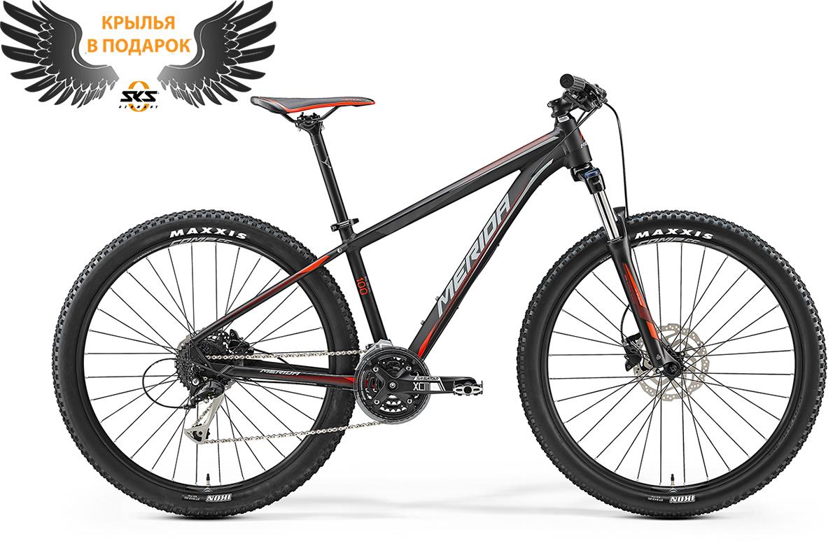 Велосипед Merida Big.Nine 100 (2017) черно-красно-серый 19
