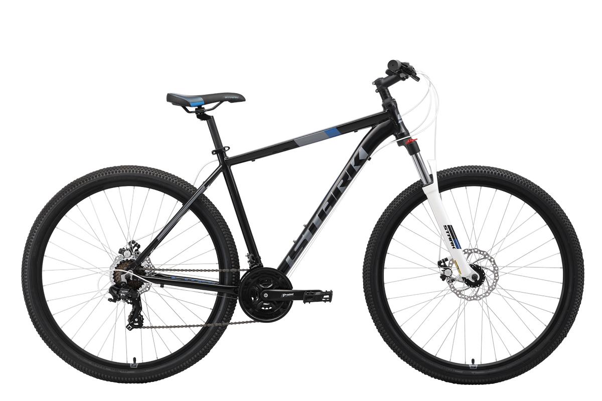 Велосипед Stark Hunter 29.2 D 2019 чёрный-серый-синий 20 д