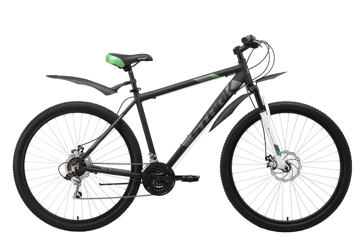 Велосипед Stark Tank 29.1 D 2019 чёрный-серый-зелёный 22 д