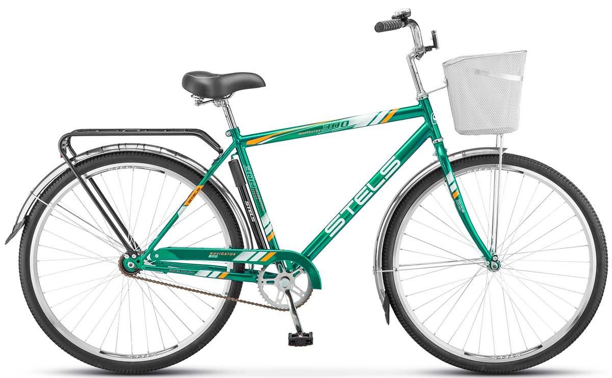Велосипед Stels Navigator 300 Gent 28 2018 зеленый 20 д