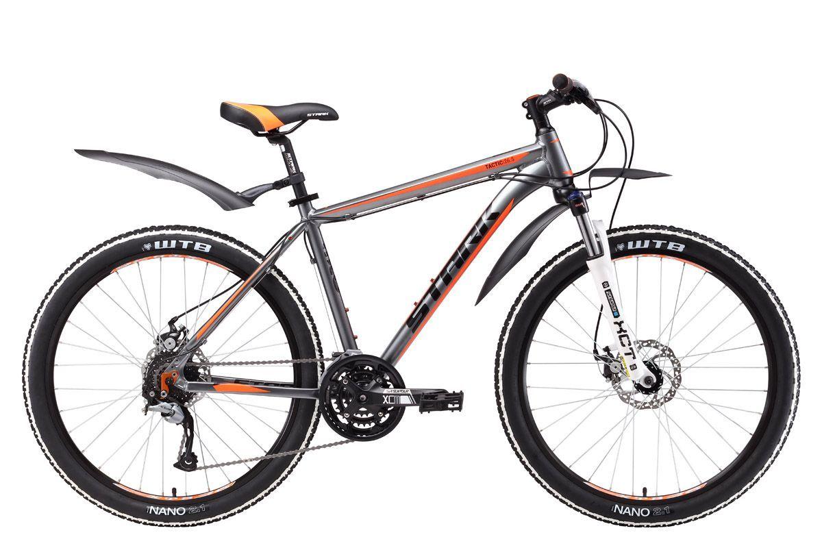 Велосипед Stark Tactic 26.5 D (2017) серо-оранжевый 20